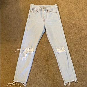 Levi's 501 Skinny Jeans - Light Blue